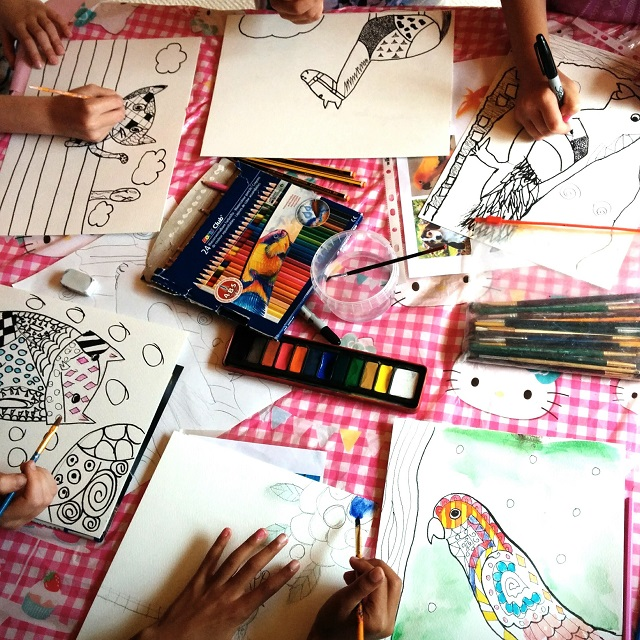 Art birthday parties for kids