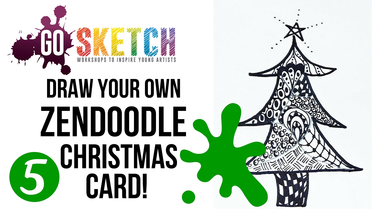 Go Sketch Homemade Christmas Card