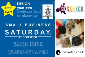 Small Business Saturday Go Sketch Harbourside Christmas Market Bristol
