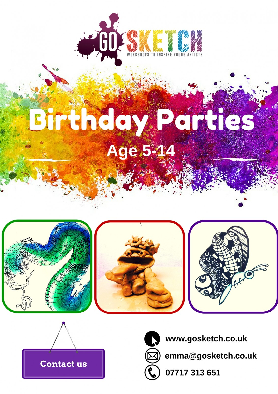 Arty Birthday Party ideas for kids