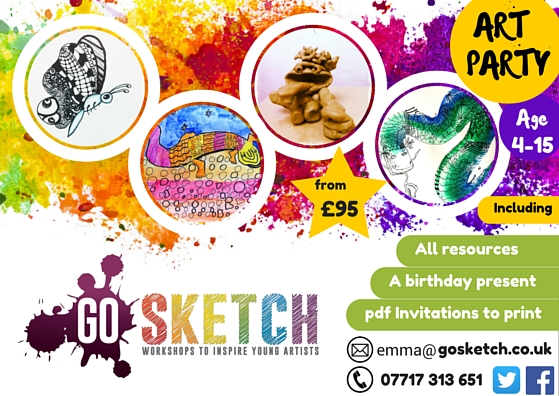 GO SKETCH Arty Birthday Parties