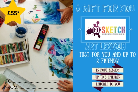 Gift voucher for art tuition