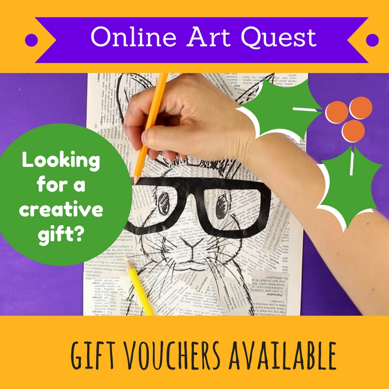 Gift voucher art course kids