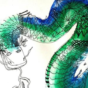 Dragon art birthday party for kids in Bristol, South West and London