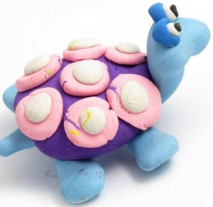 Art birthday party idea for children in Bristol which involves having fun with plasticine to create interesting creatures