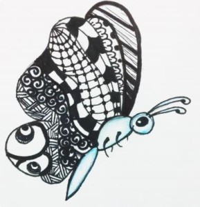 Zendoodle art birthday party idea for children in Bristol