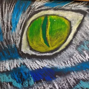 Photo of art created in GO SKETCH after school fine art courses for children in Bristol