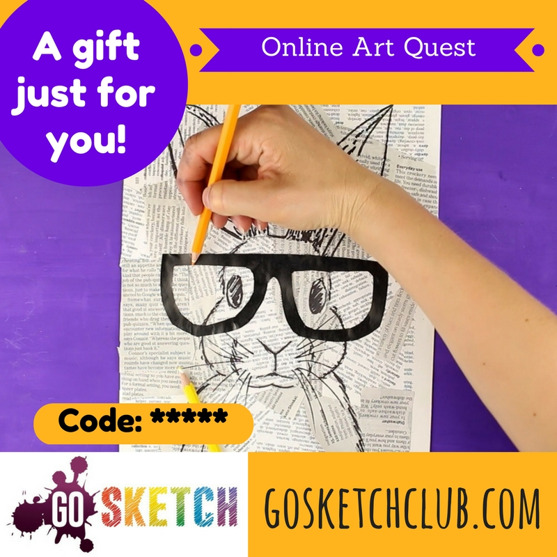 Gift Vouchers for online art course for kids