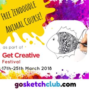 GO SKETCH free zendoodle drawing course