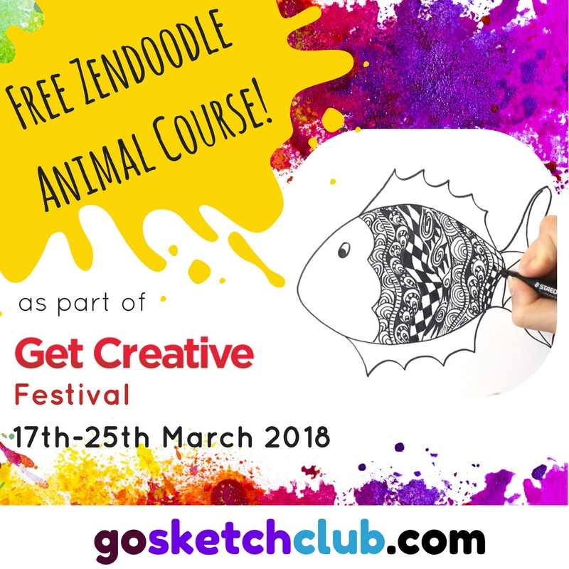 GO SKETCH free zen doodle drawing course