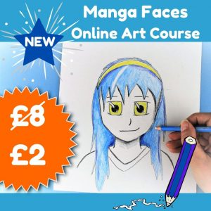 New Manga Faces online art course for kids or beginner adults. Only £2 (was £8)