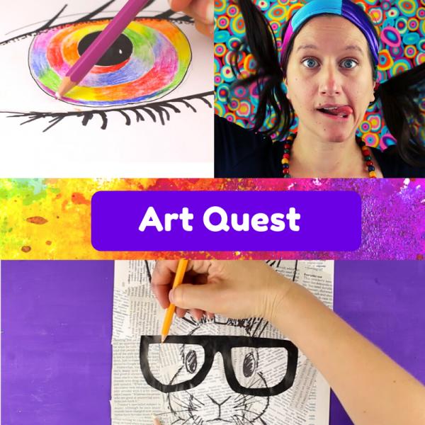 Art Quest Adventure online course for kids