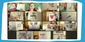 art parties for kids and teens online