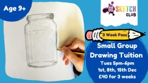 Live Small Group Drawing Tuition @ Online via Zoom