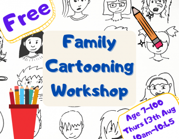 cartooning art workshop for children and families