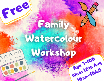 watercolour art online workshop for families, children and adults