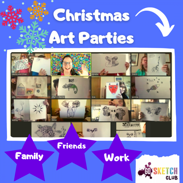 Christmas art party for your friends, family or work