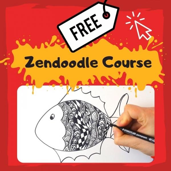 Free Online Zendoodle Art Course