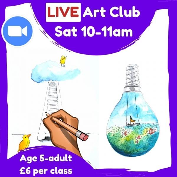 Live Art Club for Kids