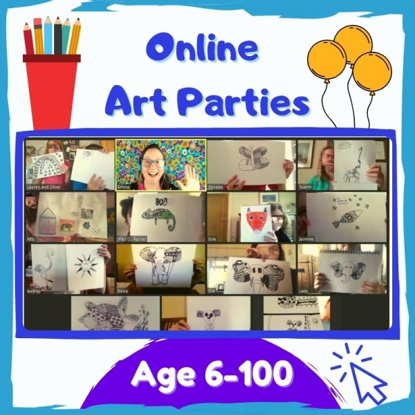 Online Art Parties for kids