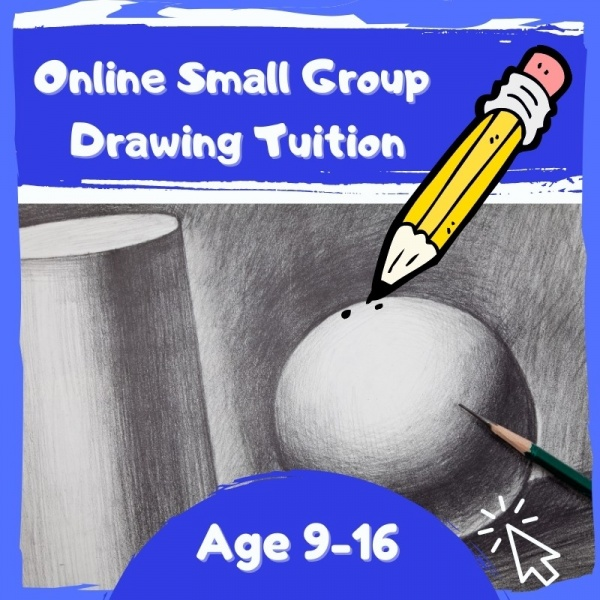Online Art Drawing tuition for age 9 to 16