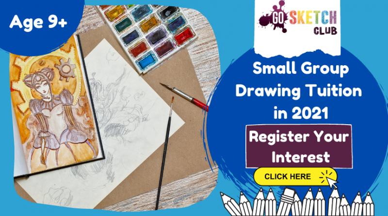 Art Tuition for older children kids online