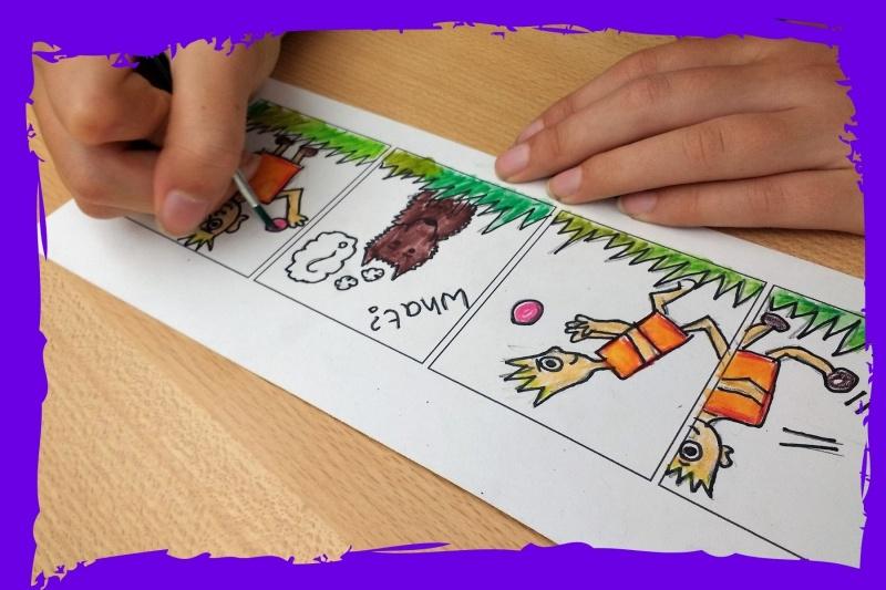 school art workshops comic strips