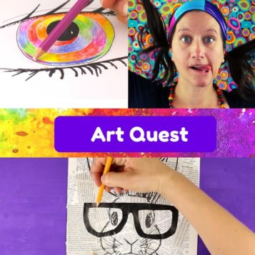 art class online for kids challenge